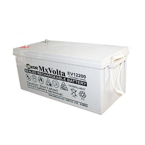 12V/200Ah VRLA Deep Cycle Battery (522L X 240W X 219H mm Insert Terminal M6)