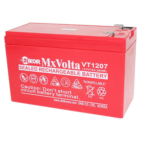 12V/7Ah VRLA Battery (151L X 65W X 93H mm F2 Terminal)