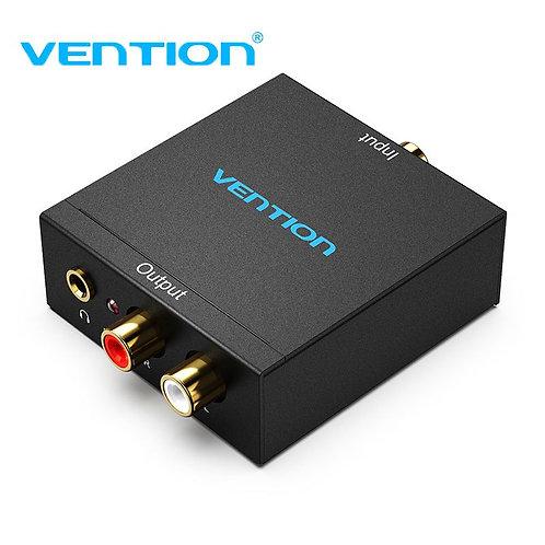 Optical Fiber/Coaxial Digital Audio to RCA Analog Audio Converter