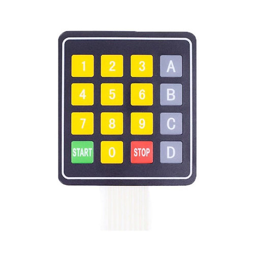 DC 12V 4x4 16 Key Matrix Membrane Switch Keypad Keyboard (77x70x0.8mm)