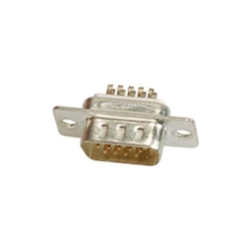 15P D-SUB Plug (High Density Solder Type)