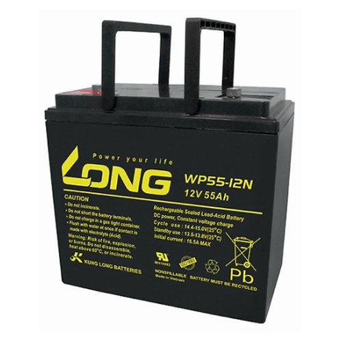 12V/55Ah VRLA Battery (229L X 138W X 210H mm, Lead Terminal M6)