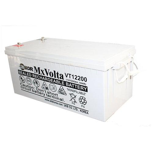12V/200Ah VRLA Battery (522L X 240W X 219H mm Insert Terminal M6)