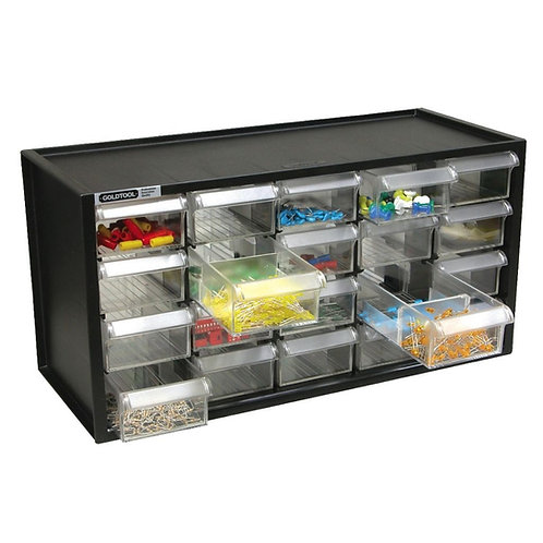 20 Drawers Components Cabinet (Black)