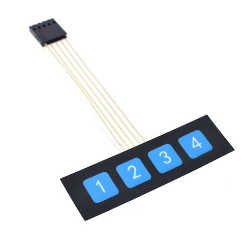 1x4 4 Key Matrix Membrane Switch Keypad Keyboard Control Panel