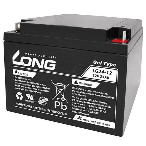 12V/24Ah VRLA Gel Battery (166L X 175W X 125H mm, F3 Flange Terminal)