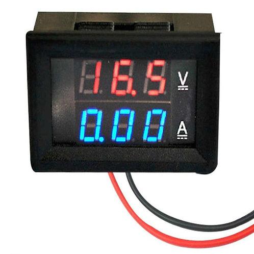 0.28inch 100V 100A Dual LED Voltmeter Ammeter Blue+Red