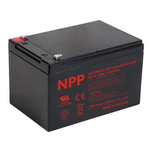 12V/12Ah AGM Valve Regulated Lead Acid Battery