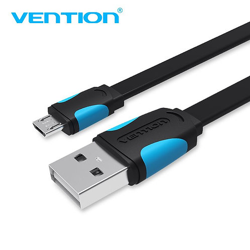 Flat USB 2.0 A Male to Micro B Male Cable