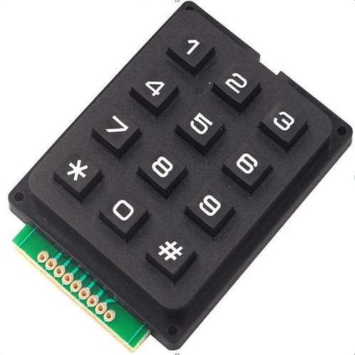 Black 3x4 Keyboard