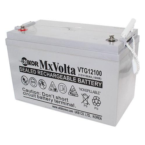 12V/100Ah VRLA Gel Battery (329L X 172W X 215H mm Insert Terminal M6)