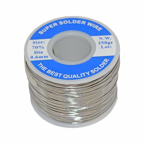 Highly-Efficient Solder Wire (Sn70/Pb30 0.6mm 250gr)