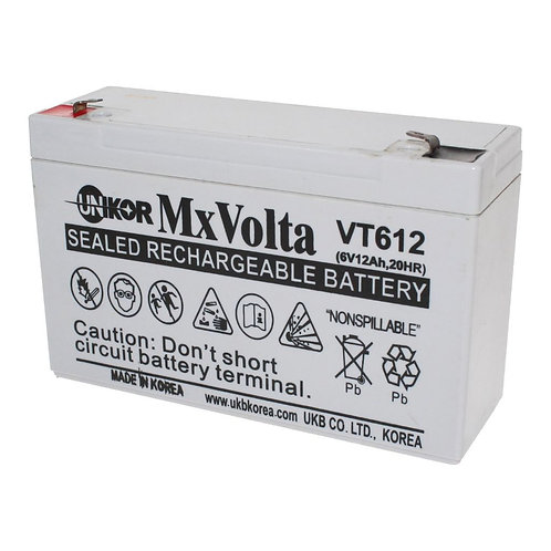 6V/12Ah VRLA Battery (151L X 50W X 94H mm F1 Terminal)