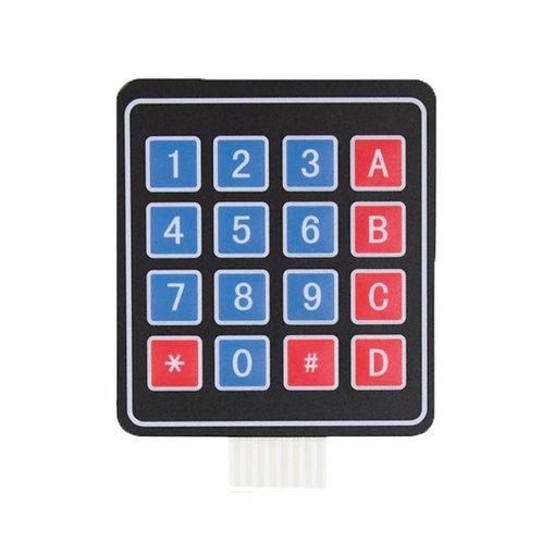 Universal 4x4 16 Key Matrix Membrane Switch Keypad Keyboard (76x69x0.8mm)