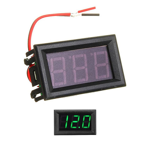 0.56inch 0-30V Three Wire DC Voltmeter Green