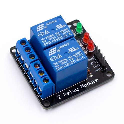 2-Channel Relay Module without Light Coupling 5V
