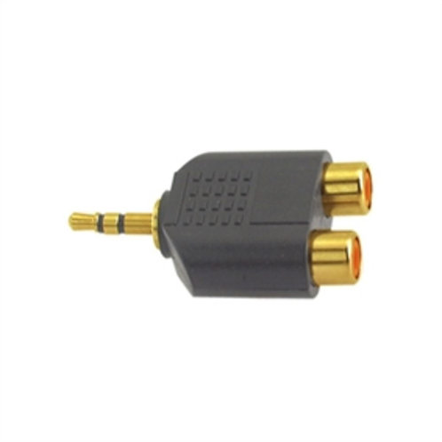 Gold Plated 3.5mm Stereo Plug to Double RCA Jack