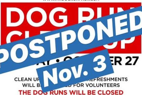 October 27 Park Clean Up Postponed!