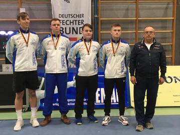 Säbelfechter holen Bronze-Medaille bei der U20-DM in Eislingen