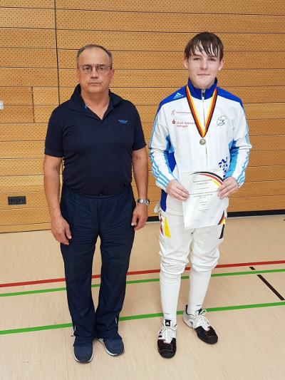 B-Jugend Säbelfechter des Fechtzentrum Solingen starteten erfolgreich bei Deutscher Meisterschaft in Nürnberg