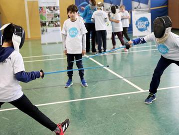 Projekt Fecht-KIDS mit den Solinger Stadtwerken geht an den Start