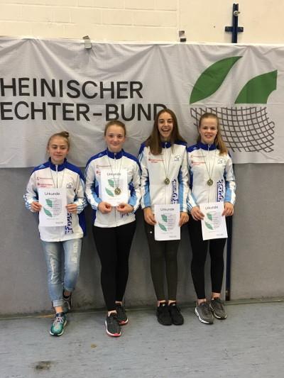 Fecht-Teams erkämpfen hervorragende Plätze beim Präsidentenpokal. Fechtzentrum Solingen e.V.