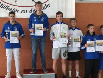 Fechter erkämpfen 8 Medaillen bei drei Turnieren