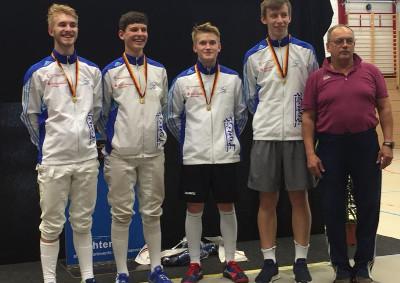 Doppel-Gold für A-Jugend Säbelfechter bei DM in Rostock