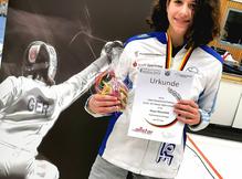U15-Degenfechter/innen starteten zur Challenge in Heidelberg - Maya Bienfeld erkämpft sich einen sta