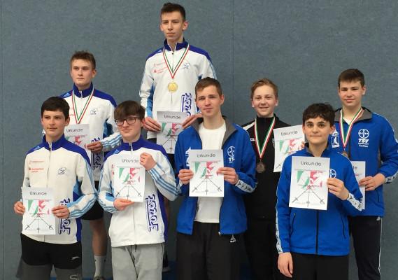 Säbelfechter holen 9 Medaillen bei NRW-Meisterschaften