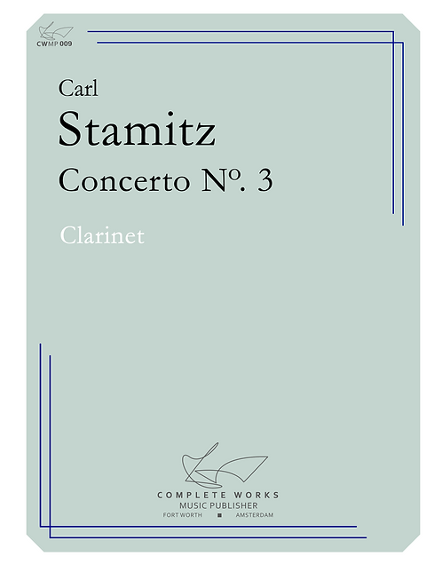 Stamitz: Concerto No. 3 - Clarinet and Piano