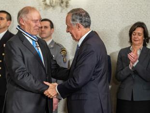 Prof. Pedro Lynce agraciado pelo Presidente da República