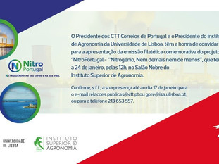 Lançamento de selos comemorativos do projeto NitroPortugal