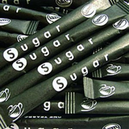 Sugar Sticks White - 2000 stick carton
