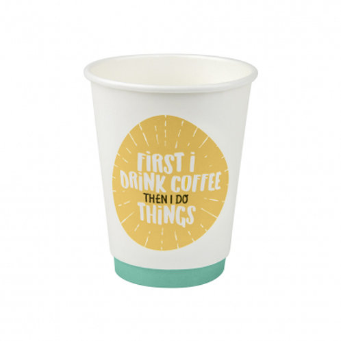 12oz/365mL Regular Double Wall Coffee Cup Quotes - Box 1000