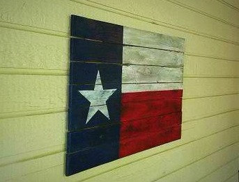 Big Tex Rustic Texas Flag