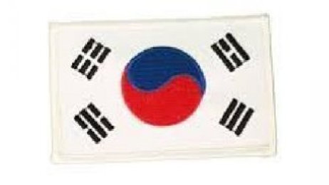 Korean Flag Sew on Patch