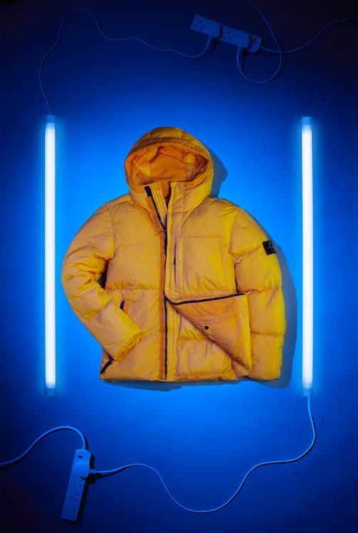 creative still life photography winter yellow jacket