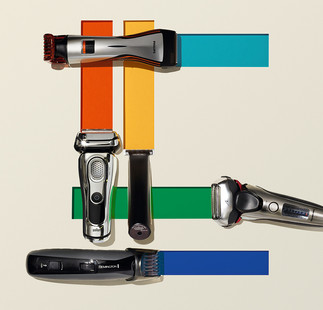 creative still life photography electric shavers