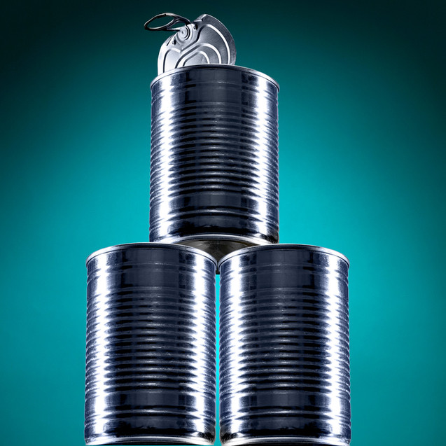 creative still life photography cans