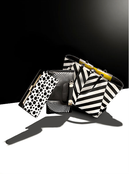 creative still life photography black and white bags