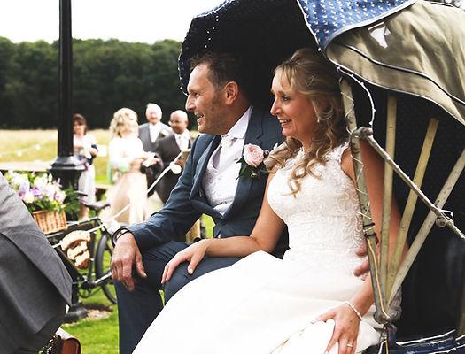 Wedding bike, rickshaw bike