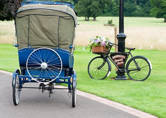 Rickshaw wedding bike hire and bakers bike hire