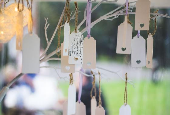 Wedding wishig tee and tags