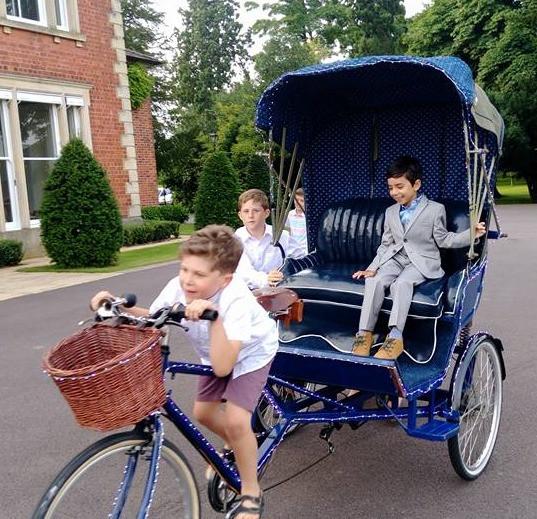 Rickshaw wedding bike hire, Nottingham
