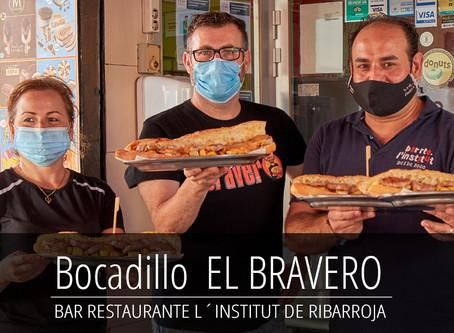 """Presentación del bocadillo """"EL BRAVERO"""" en el Bar Restaurante L´Institut de Ribarroja del Turia"""