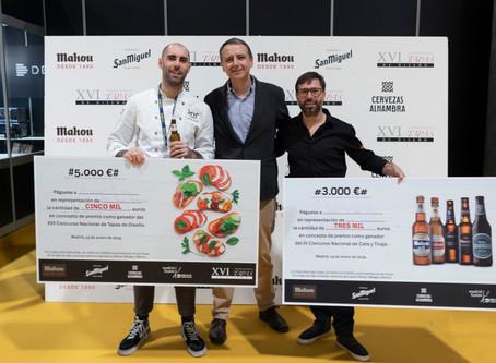 Nicolás Román, chef de Átic Palau Alameda, gana el XVI Concurso Nacional de Tapas en Madrid Fusión
