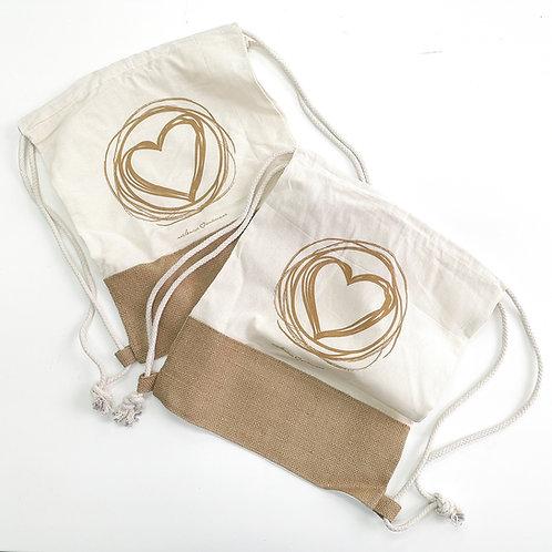 Pack 2 mochilas de algodón Valencia Enamora