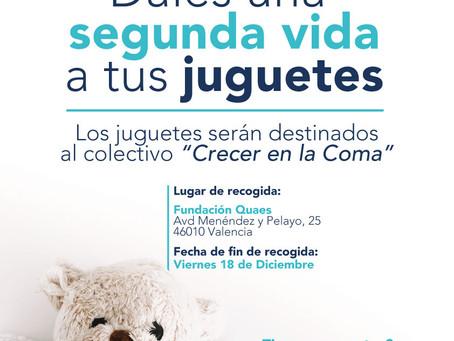 """Recogida solidaria de juguetes a través de Fundación Quaes para el colectivo """"Crecer en la Coma"""""""
