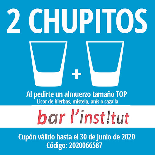 CUPON 2 CHUPITOS EN BAR RESTAURANTE L´INSTITUT DE RIBARROJA